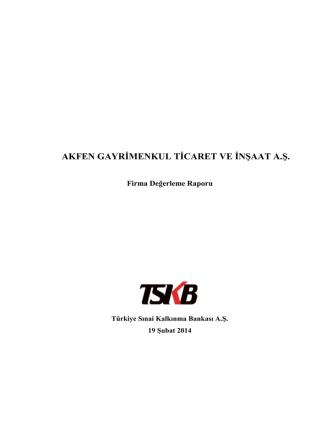 15. Akfen GT Bağlı Ortaklık Değerleme Raporu