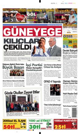 12 Şubat 2014 - Güney Ege Gazetesi