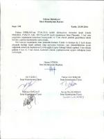 İmar Komisyonu 2014 Eylül Ayı Çalışma Raporu
