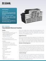DGS-1210 SerisiYönetilebilir Ethernet Anahtar - D-Link