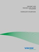 vacon 100 vacon 100 flow kurulum kılavuzu
