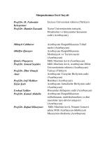Simpoziumun fəxri heyəti - 21. Yüzyıl Penceresinden Kültür ve