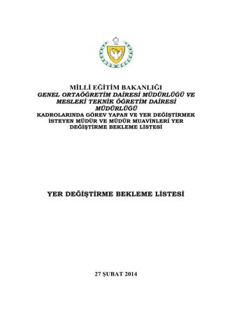 2013-2014 müdür md. muv. bekleme listesi
