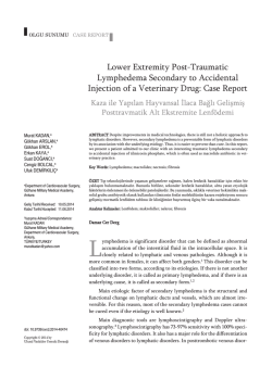 Lower Extremity Post-Traumatic Lymphedema Secondary to