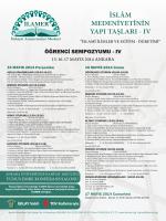 İSLÂM MEDENİYETİNİN YAPI TAŞLARI - IV
