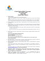 4 .İzvet Veteran Bahar Turnuvası 12-13 Nisan 2014 Saat