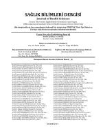Dergi Danışma Kurulu Üyeleri - Sağlık Bilimleri Enstitüsü