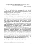 TÜRK-İSLÂM MEDENİYETİNİN ÖNCÜLERİNDEN AHİ EVRAN VELÎ