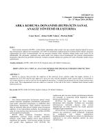 Arka Koruma Donanımı İçin Sanal Analiz Yöntemi Oluşturma