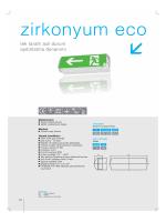 Zirkonyum Eco Tek Taraflı Acil Durum Aydınlatma