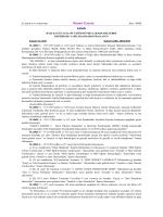 Resmî Gazete - TC Trabzon Valiliği Yatırım İzleme ve Koordinasyon