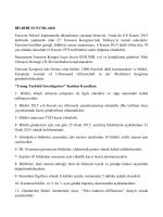 BİLDİRİ SUNUMLARI - euroson school 2015