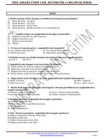 teorik sınav soruları 2
