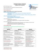 KONGRE BĐLĐMSEL PROGRAMI 12 Mayıs 2014, Pazartesi 08:30