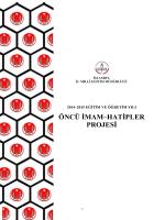 öncü imam–hatipler projesi - İstmem - İstanbul İl Milli Eğitim Müdürlüğü