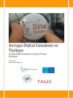 Avrupa Dijital Gündemi ve Türkiye