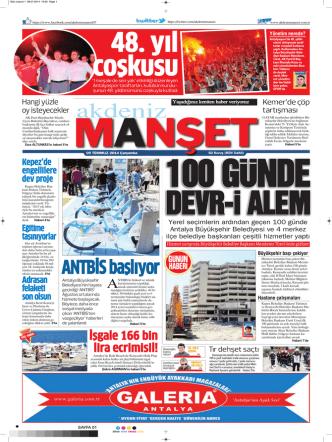 ANTBİS başlıyor - Akdeniz Manşet