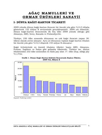 agac mamulleri ve orman urunleri sektor raporu
