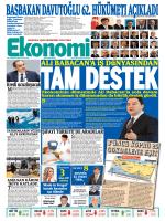 30 ağustos 2014 - Ekonomi Gazetesi