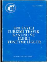 2634 sayılı turizmi teşvik kanunu ve ilgili yönetmelikler