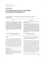 Sol Pnömonektomi Sonrası Ani Kollaps: İyatrojenik Bir