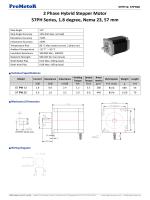 ProMotoR 2 Phase Hybrid Stepper Motor 57PH Series, 1.8 degree