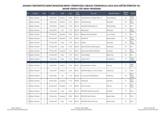 2014 Bahar Dönemi Vize Programı177.03 KB