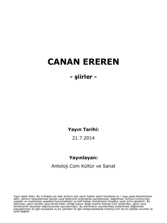 CANAN EREREN - Antoloji.Com