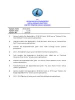 29.04.2014 Tarih ve 2014-14 Sayılı Karar