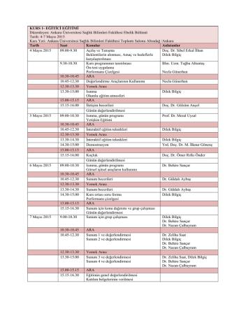 5. ankara ebelik günleri kurs programları