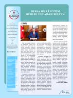 Bursa il Mem ARGE Bülteni - Bursa İl Milli Eğitim Müdürlüğü