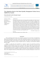 The Adaptation Study of the School Quality Management Culture