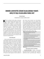 kronik lenfositik lösemi olgularında tedavi