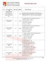 teknik şartname - Bilecik Şeyh Edebali Üniversitesi İhale Bilgi Sistemi