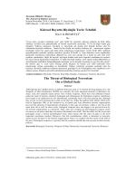 Küresel Boyutta Biyolojik Terör Tehdidi
