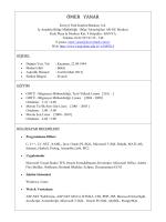 Özgeçmiş(Türkçe) - METU Computer Engineering