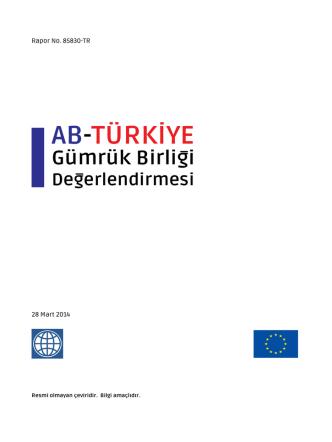 AB-Türkiye Gümrük Birliği Değerlendirmesi