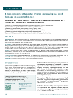 Thymoquinone attenuates trauma induced spinal