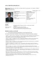 Personal Website / CV - Endüstri Mühendisliği Bölümü