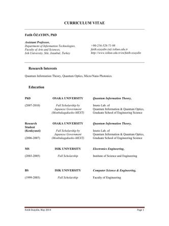 CV in English