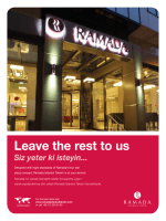 Leave the rest to us - Ramada İstanbul Taksim