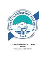 Kayseri Büyükşehir Belediyesi Performans Programı 2014