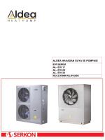 ALDEA EVİ Serisi Monoblok model Kullanma Kılavuzu