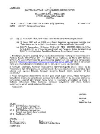 bhikpk ihtisas komisyonları toplantı çalışma özet raporları