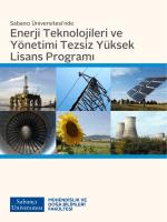 Enerji Teknolojileri ve Yönetimi Tezsiz Yüksek Lisans Programı