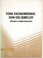 TÜRK EKONOMiSiNDE SON GELiSMELER