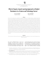 Effect of Inquiry-based Learning Approach on Student