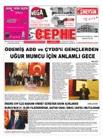 27.01.2014 Tarihli Cephe Gazetesi