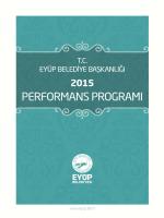 2015 YILI - Eyüp Belediyesi