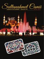 Sultanahmet Camii Koruma ve İhya Derneği Bülten Yıl 2014 Ekim